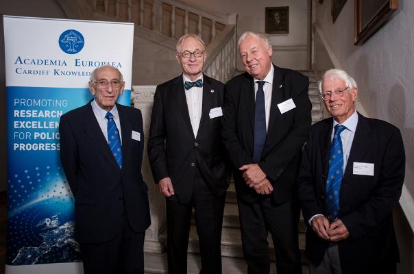 Academia Europaea's Presidents, past and present: Sir Arnold Burgen, Professor Lars Walløe, Professor Sierd Cloetingh and Professor Dr Jürgen Mittelstraß